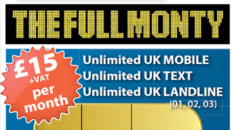 The Full Monty mobile tariff exclusive to JabbaTalk